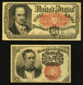 Fractional Currency:Fifth Issue, Two Fifth Issue Denominations.. ... (Total: 2 notes)
