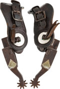 Western Expansion:Cowboy, #577 J.O.Bass Marked Spurs....