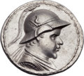 Ancients:Greek, Ancients: GRECO-BACTRIAN KINGDOM. Eucratides I the Great (ca.170-145 BC). AR tetradrachm (34mm, 16.91 gm, 11h)....