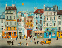 Michel Delacroix (French, b. 1933) Paris Scenes (two works) Lithograph with colors, each 20-1/4 x