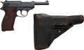 Handguns:Semiautomatic Pistol, Walther ac41 P.38 Semi-Automatic Pistol with Leather Holster....