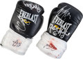 """Movie/TV Memorabilia:Costumes, A Pair of Signed Boxing Gloves from """"Grudge Match.""""..."""