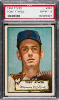 Baseball Cards:Singles (1950-1959), 1952 Topps Toby Atwell #356 PSA NM-MT 8....