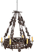 Movie/TV Memorabilia:Original Art, A Wrought Metal Chandelier, Late 20th Century....