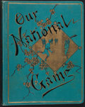 Baseball Collectibles:Publications, 1887 Our National Game Scrapbook (All 5 Color Pages Intact)....