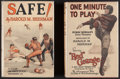 "Miscellaneous Collectibles:General, 1926 ""One Minute to Play"" Starring Red Grange and 1928 ""Safe!""..."