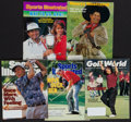 Golf Collectibles:Autographs, Golf Greats Signed Sports Magazines Lot of 5....