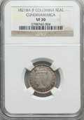 Colombia, Colombia: Cundinamarca Real 1821 Ba-JF VF30 NGC,...