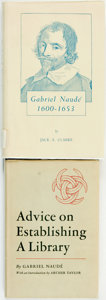 Books:Books about Books, Gabriel Naudé. Advice on Establishing a Library. Berkeley and Los Angeles: University of California Press, 1950.... (Total: 2 Items)