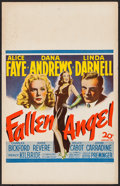 "Movie Posters:Film Noir, Fallen Angel (20th Century Fox, 1945). Window Card (14"" X 22""). Film Noir.. ..."