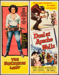 """Movie Posters:Western, The Buckskin Lady & Other Lot (United Artists, 1957). Inserts (2) (14"""" X 36""""). Western.. ... (Total: 2 Items)"""