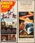 "Movie Posters:War, The Court-Martial of Billy Mitchell & Other Lot (WarnerBrothers, 1956). Inserts (2) (14"" X 36""). War.. ... (Total: 2 Item)"