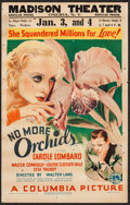 """Movie Posters:Drama, No More Orchids (Columbia, 1932). Window Card (14"""" X 22""""). Drama.. ..."""
