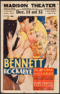 "Movie Posters:Drama, Rockabye (RKO, 1932). Window Card (14"" X 22""). Drama.. ..."