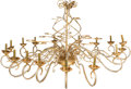 Movie/TV Memorabilia:Original Art, A Large 18-Light Crystal Beaded Chandelier....