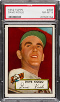 Baseball Cards:Singles (1950-1959), 1952 Topps Dave Koslo #336 PSA NM-MT 8 - Only One Higher....