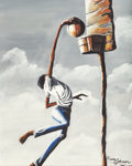 Fine Art - Painting, American:Contemporary   (1950 to present)  , Harvey Johnson (American, b. 1947). Slam Dunk, 1976. Oil oncanvasboard. 20 x 16 inches (50.8 x 40.6 cm). Signed and dat...