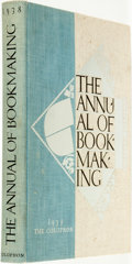 Books:Books about Books, [Book Arts]. The Annual of Book-Making. The Colophon, 1938....