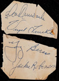 Baseball Collectibles:Others, Jackie Robinson and Others Cut Signatures....