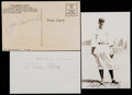 Baseball Collectibles:Others, Elmer Flick, Joe Torre and George Kelly Signed Postcards etc. Lotof 3....