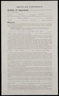 Baseball Collectibles:Others, 1917 Robert McGraw New York Yankees Contract Signed by Ban Johnson and Jacob Ruppert....