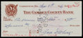 Baseball Collectibles:Others, 1960 Zack Wheat Signed Check....