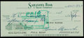 Baseball Collectibles:Others, Heinie Manush Signed Check....