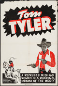 """Movie Posters:Western, Tom Tyler (Screencraft, 1940s). Stock One Sheet (28"""" X 42""""). Western.. ..."""