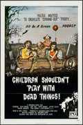 """Movie Posters:Horror, Children Shouldn't Play with Dead Things (Geneni, 1972). One Sheet(27"""" X 41""""). Horror.. ..."""