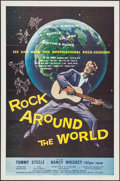 "Movie Posters:Rock and Roll, Rock Around the World (American International, 1957). One Sheet (27"" X 41""). Rock and Roll.. ..."