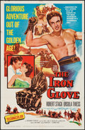 "Movie Posters:Adventure, The Iron Glove & Other Lot (Columbia, 1954). One Sheets (2)(27"" X 41""). Adventure.. ... (Total: 2 Items)"