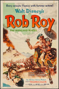 "Movie Posters:Adventure, Rob Roy, the Highland Rogue & Other Lot (RKO, 1954). One Sheets(2) (27"" X 41""). Adventure.. ... (Total: 2 Items)"