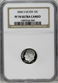 Proof Roosevelt Dimes: , 2004-S 10C Silver PR70 Deep Cameo NGC. PCGS Population (64/0).Numismedia Wsl. Price: $180.(#95309)...