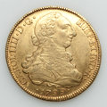 Chile, Chile: Charles IV gold 8 Reales 1799 So-DA VF/XF - Cleaned,...