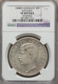 German States:Bavaria, German States: Bavaria. Otto 5 Mark 1888-D VF Details (Stained)NGC,...