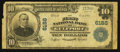 National Bank Notes:Mississippi, Gulfport, MS - $10 1902 Plain Back Fr. 634 The First NB Ch. # 6188. ...