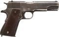 Handguns:Semiautomatic Pistol, Remington Rand M1911 A1 Semi-Automatic Pistol with Leather Holster....
