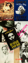 Books:Biography & Memoir, [Film Actresses]. Group of Seven Biographies, One of Which isSIGNED. Various publishers and dates.... (Total: 7 Items)