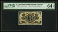 Fractional Currency:Third Issue, Fr. 1253 10¢ Third Issue PMG Choice Uncirculated 64 Net.. ...