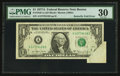 Error Notes:Skewed Reverse Printing, Fr. 1910-A $1 1977A Federal Reserve Note. PMG Very Fine 30.. ...