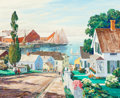Fine Art - Painting, American:Modern  (1900 1949)  , Carl Ivar Gilbert (American, 1882-1959). Bright Harbor No.4. Oil on canvas. 26 x 31-1/2 inches (66.0 x 80.0 cm).Signed...