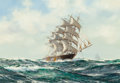 Maritime:Paintings, Henry Scott (British, 1911-1970). Jute Clipper 'Star ofPersia'. Oil on canvas. 14 x 20 inches (35.6 x 50.8 cm). Signed...