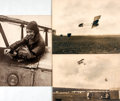Books:Photography, [Aviation]. Group of Three Photographs Depicting Early Exhibition Flying. [n.d., circa 1915]. ...