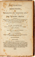 Books:Medicine, Wm. Kitchiner. Directions for Invigorating and Prolonging Life;or, The Invalid's Oracle. New-York: Published by...
