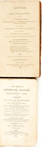 Books:Food & Wine, A. F. M. Willich. Lectures on Diet and Regimen... New-York:Printed by T. and J. Swords, 1801. [together with:] A ... (Total: 2Items)