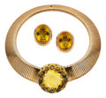 Estate Jewelry:Suites, Citrine, Gold Jewelry Suite. ... (Total: 3 Items)