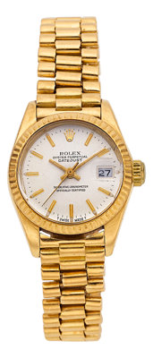 Rolex Lady's Gold President Watch