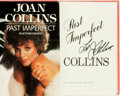 Books:Biography & Memoir, Joan Collins. SIGNED. Past Imperfect. New York: Simon andSchuster, [1984]....