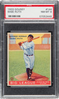 Baseball Cards:Singles (1930-1939), 1933 Goudey Babe Ruth #144 PSA NM-MT 8....