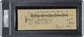 Baseball Collectibles:Others, 1931 Ty Cobb Signed Check, PSA/DNA Gem Mint 10....